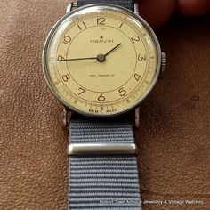 Fantastic WW2 Period Marvin Military Style Handsome Over Size Watch