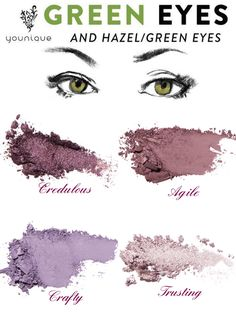Eyeshadow Looks Eyemakeup for hazel eyes. Use purple and pink eyeshadow colors to make your hazel eyes pop. Mix and match to customize your own eyeshadow palette. Over 40 colors to choose from. Hazel Eye Makeup, Makeup For Green Eyes, Eye Makeup Tips, Smokey Eye Makeup, Makeup Trends, Skin Makeup, Eyeliner Makeup, Smoky Eye, Drugstore Makeup