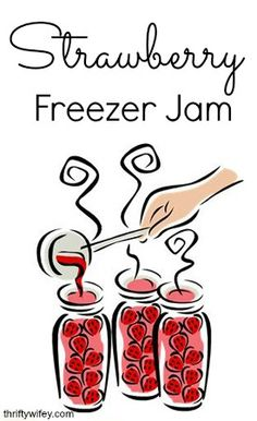 Strawberry Freezer Jam http://thriftywifey.com/smart-shopping/do-it-yourself/recipes/strawberry-freezer-jam/