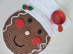 <3 Dupla de Centrinhos Gingerbread Cook I LOVE....... <3 Como não gostar? Vem saber sobre eles aqui: http://recantodasborboletas-simoninha.blogspot.com.br/
