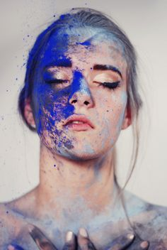 can we try one more time | Flickr - Photo Sharing! Swear...this is me.  Powdered pigments from my sister and Italy.  Love that blue!
