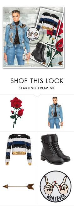 """""""Whatever"""" by betterthanbalmain ❤ liked on Polyvore featuring Alexander McQueen, Sonia Rykiel, Philosophy di Lorenzo Serafini, WALL, Wall Pops!, contest, denim, contestentry and denimjackets"""
