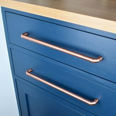 Copper Pull Large Sizes. Drawer Handle. Drawer Pull. Cabinet