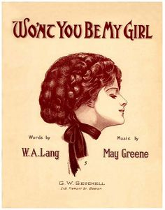 Vintage Song Poster - Wont You Be My Girl