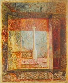 The Column - Horia Bernea Artist Biography, Art Database, Online Art, Find Art, Art History, Vintage World Maps, Contemporary, Landscape, Artwork