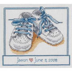 Janlynn Baby Shoes Counted Cross Stitch