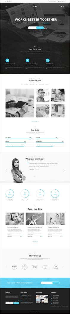 Odeo is a clean and professional 10 in 1 #bootstrap HTML #template for #corporate, Photo Studio, Freelancers, Portfolio, Personal, Medicine, Travel, Creative Agency, Corporate, Blog, Interior or eCommerce website download now➩ https://themeforest.net/item/odeo-multipurpose-business-html-template/18545321?ref=Datasata