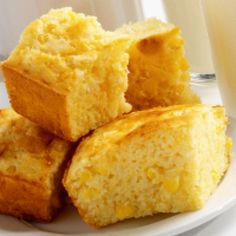 Hands-down some of the fluffiest scratch cornbread I've ever made!! I'd probably like it better without the extra corn though.
