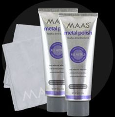 MAAS- amazing metal polish that completely restores and rehabs chrome and other metals and compounds.  it turned a 30plus year old chrome lamp into the envy of restoration hardware or design within reach