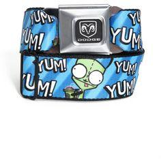 Invader Zim Yum Yum Gir Seat Belt Belt ($26) ❤ liked on Polyvore