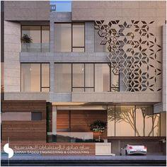 Library Architecture, Islamic Architecture, Facade Architecture, Villa Design, Facade Design, Exterior Design, House Front Design, Modern House Design, Building Facade