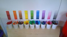 Fancy Some Classroom Inspiration? Anna's organised pens are so satisfying. What will they look like 5 minutes after school starts? Year 2 Classroom, Early Years Classroom, Classroom Hacks, Classroom Setting, Preschool Classroom, Classroom Displays Eyfs, Creative Classroom Ideas, Creative Area Eyfs, Reception Classroom Ideas