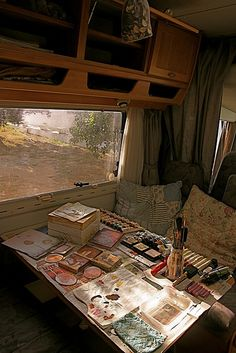 "#Studio in a mobile home. "" Where there's a will there's a way!"""