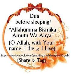 Du'a before sleeping
