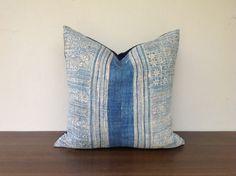 Vintage Homespun Hemp Batik Hand Woven Pillow Case 18 x 18  Pieces Of Tribal Costume. $50.00, via Etsy.