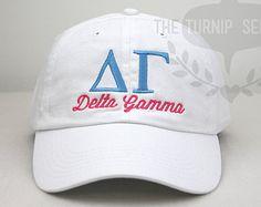 Delta Gamma Sorority Baseball Cap - Custom Color Hat and Embroidery.
