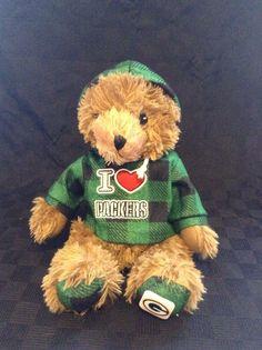 "Good Stuff Green Bay Packer Football Stuffed 12"" Animal Plush Soft Toy Bear #GoodStuff"