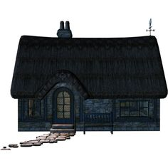 Cottage Stock 5.png ❤ liked on Polyvore featuring house