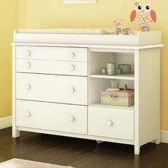 South Shore Furniture Little Smileys 4 Drawer Changing Station, White Changing Table With Drawers, Changing Dresser, Changing Table Topper, Baby Changing Table, Set Of Drawers, Small Drawers, Dresser Shelves, 4 Drawer Dresser, Hemnes