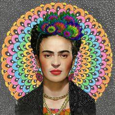 artagainstsociety:  Frida Kahlo by Luna Portnoi