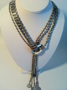 Image of Silver Lariat Necklace