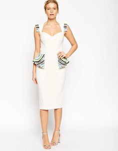 Image 1 of Forever Unique Cassia Embellished Pencil Dress