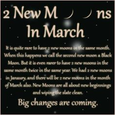 2 New Moons in March
