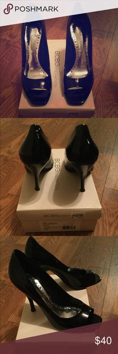 BCBGeneration Black Tumbled Pearl Pat BCBGeneration Shoes Heels