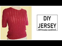 How to knit a lady´s sweater Diy Moda, Lana, Pullover, Jersey, Knitting, Blouse, Youtube, Sweaters, Videos