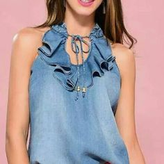 Classy Outfits, Casual Outfits, Denim Fashion, Fashion Outfits, Denim Ideas, Denim Crafts, Clothing Hacks, Mode Hijab, Denim Top