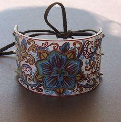 shrink plastic cuff bracelet - beautiful