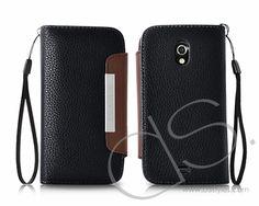 Wallet Series Samsung Galaxy Nexus Leather Case i9250 - Black @DS Styles