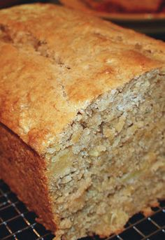 Tropical Pineapple Coconut Banana Bread - If you're looking for a very moist, dense cake with loads of bananas… this is your recipe. Add some extra tropical flavors like pineapple, cream of coconut and macadamia nuts and you'll be in heaven!
