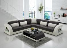 Lacus Modern Leather Sectional – Jubilee Furniture Room Furniture Design, Living Room Sofa Design, Living Room Modern, Living Room Furniture, Furniture Stores, Small Living, Modern Furniture, Furniture Cleaning, Furniture Online