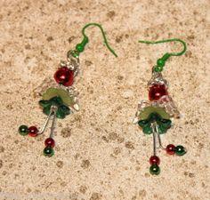 *^* Cute Angels Hand Made Christmas Earrings *^*