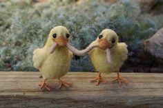 Felted animal, little duckies.
