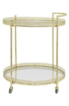 Three Hands Mirrored Metal Bar Cart available at #Nordstrom