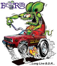 Here's a couple cool pieces of fan art Jack Lister sent to me. Pretty boss-looking art! A little Rat Fink PhotoShop magic and. Cool Car Drawings, Cartoon Drawings, Ed Roth Art, Cartoon Rat, Love Cartoon Couple, Rat Fink, Garage Art, Tatoo Art, Big Daddy