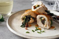 Chicken Thighs Stuffed With Chard