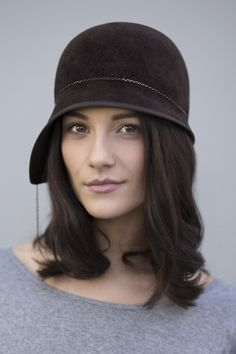 If this was black or grey or even navy it would be perfect for you!  Cloche Hat  BY MAGGIE MOWBRAY  #millinery #hats #HatAcademy