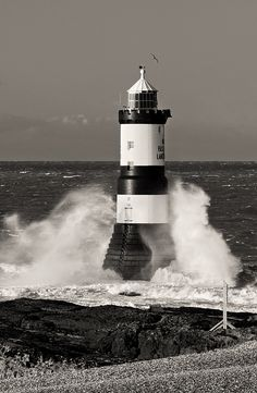 Penmon Point Lighthouse Trwyn Du Lighthouse northernmost point of mainland south east Anglesey Wales53.312497, -4.035823   by Kristofer Williams, via Flickr