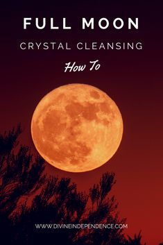 How To Cleanse Your Crystals Using The Full Moon