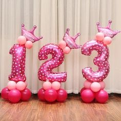 16 inch Figure Number Foil Balloons For Decoration. Check out the surprising package offer ! Balloon Crafts, Birthday Balloon Decorations, Happy Birthday Balloons, Number Balloons, Foil Balloons, Fiestas Peppa Pig, Balloon Prices, Balloon Bouquet, Festival Party