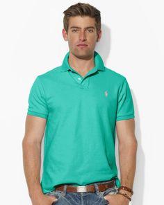 ralph lauren vendita borse, Uomini - Custom-Fit Mesh Polo - Custom-Fit Polo  - RalphLauren - ,maglie ralph lauren,negozio online, maglie polo ralph \u2026
