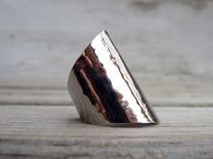 armor+ring+silver+shiny+cuff+ring+hammered+ring+by+AshkalShop,+$24.00