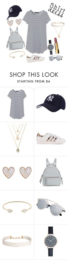 """shirtdress 5"" by fashionlandfb ❤ liked on Polyvore featuring Hartford, adidas Originals, New Look, Fendi, LC Lauren Conrad, Humble Chic, Chanel and shirtdress"