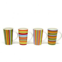 With ample handles and a retro shape, these porcelain mugs are perfect for sipping morning coffee or talking over tea with friends. Coffee Cups, Tea Cups, Xmas Wishes, Kitchenware, Tableware, Great Gifts For Mom, Porcelain Mugs, My Cup Of Tea, Happy Colors