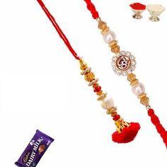 Divine Om Rakhi Bhaiya Bhabhi Rakhi Set online