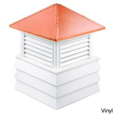 "Good Directions Dover Cupola (Dover Cupola 36"" Sq. x 48"" H - Vinyl), Brown copper (Metal), Outdoor Décor"