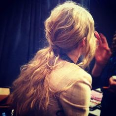 Backstage at the Tracy Reese Runway Show — in New York, New York. #tresemme